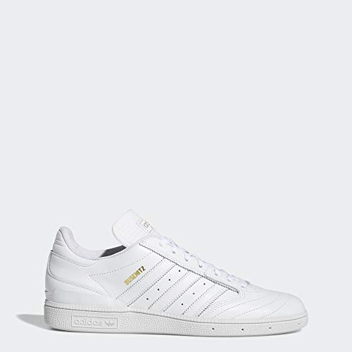 adidas Originals Men's Busenitz Sneaker, White/Gold Metallic/White, 12 M US
