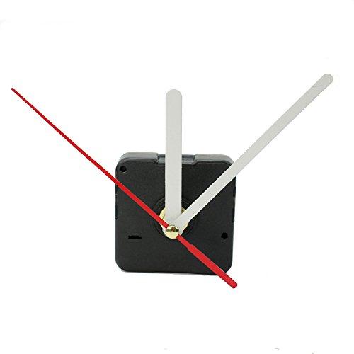 Black Quartz Wall Clock Movement Mechanism White+Red Hands DIY Repair Parts Kit ()