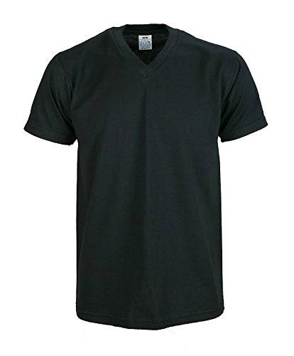 Price comparison product image Men's Solid comfort v neck short sleeve shirts Black 2XL