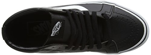 VANS Unisex Sk8-Hi Skate Shoes, Lace-Up High-Top Style in Durable Canvas and Suede Uppers, Supportive and Padded Ankle in Vans Vulcanized Signature Waffle Outsole Black/True White