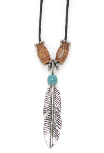 ineguagliabile qualità superiore comprare in vendita USA Western - Collana ciondolo Country piuma indiana Feather ...