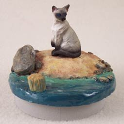 Conversation Concepts Miniature Siamese Cat Candle Topper Tiny One ''A Day at the Beach'' (Set of 6)