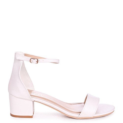 Nadine Nappa Pu White There Heeled Closed White Sandal Open Back with Barely rwrP75x