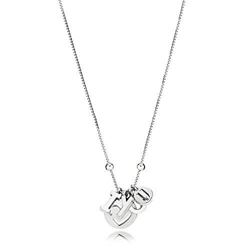 Pandora Sterling Silver I Love You Necklace 39658060