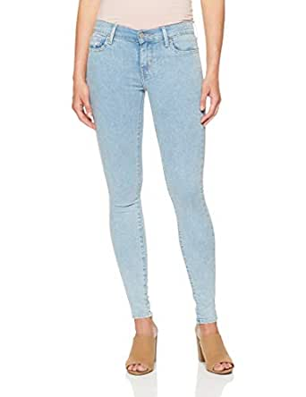 Levi's Women's 710 Super Skinny, Stone Speckle, 24 30 Blue