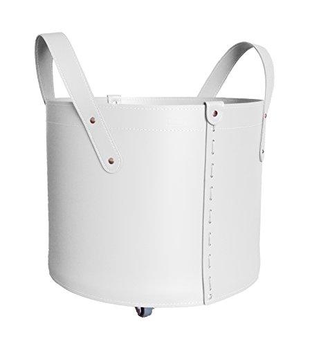 Tonda bolso cesta para le a o pellets en cuero color for Cestas para lena
