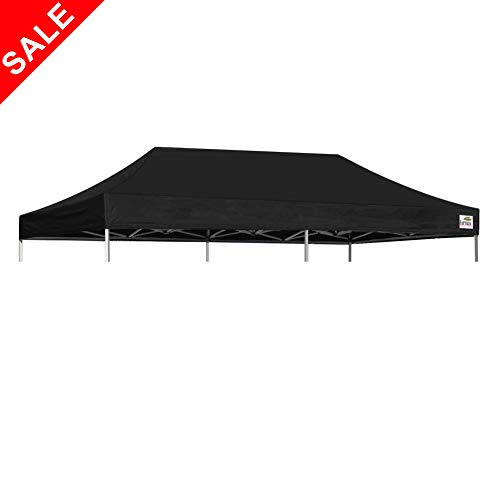 - Eurmax Pop Up Canopy Top Gazebo Tent Cover Replacement Top Only (10x20, Black)