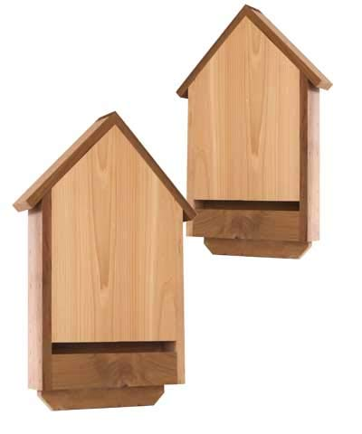 BestNest Heath Dual Deluxe Cedar Bat Houses, 20 Bats Each by BestNest
