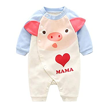 GGOOD Lovely Baby Jumpsuits Baumwollnette Body Jumpsuits Langarm Onesies Für Fußlose Schlaf-and-Play 73cm