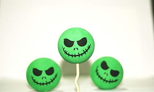 1x Funny Halloween Skull Car Antenna Topper Aerial Ball Decoration Toy Green