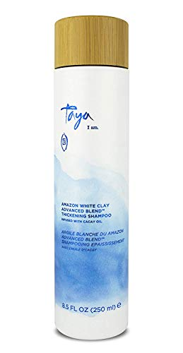 Taya Hair Products Amazon White Clay Advanced Blend Thickening Shampoo – Shampoo For Bounce and Body – Natural Hair Care…