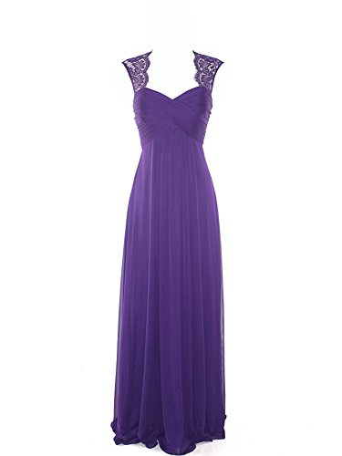 Kleid Damen Langes Spitzen Dream Abendkleid Bride Brautjungfer R¨¹ckenfrei Cocktailkleid Lila Sommer 85xwERwqU