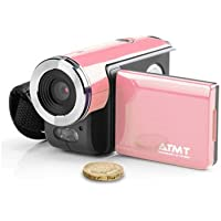 ATMT DVC3060PK Digital Video Camcorder with 1.5-Inch Color TFT Screen, 3 Mega Pixel interpolated to 5 MP (Pink)