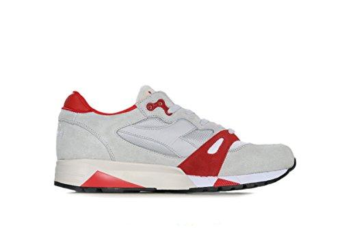 Diadora Mens Boots (Diadora S8000 NYL ita Mens Gray Mesh/Suede Athletic Lace Up Training Shoes 9.5)