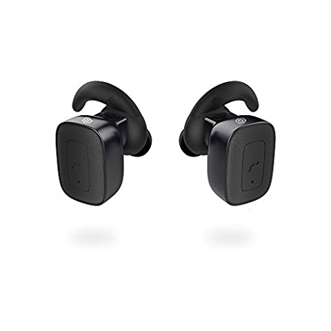 SMARTOMI Q5 True Wireless Earbuds Bluetooth Headphones with Mic Hands-free Calls Lightweight Stereo Sweatproof Earphones for Sport and Business Compatible with iPhone iPad Android Smartphones