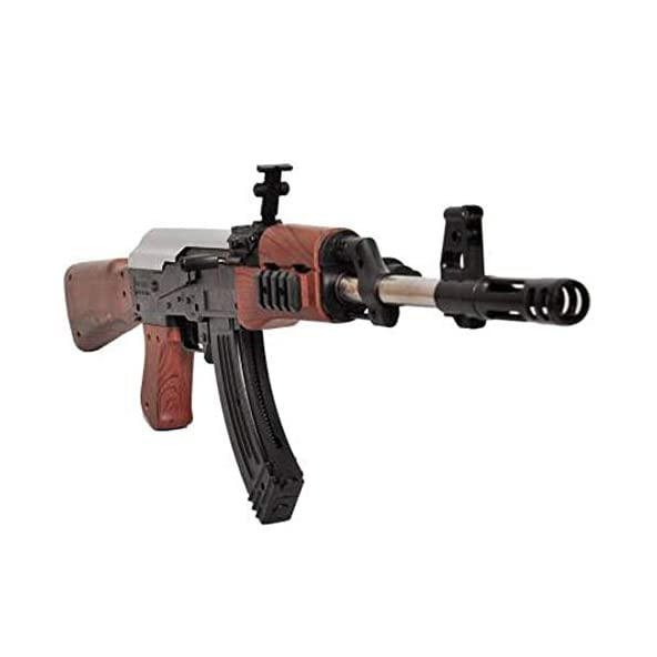 NHR AK 47 Toy Gun with Laser Light and 500 Bullets (Multicolor)