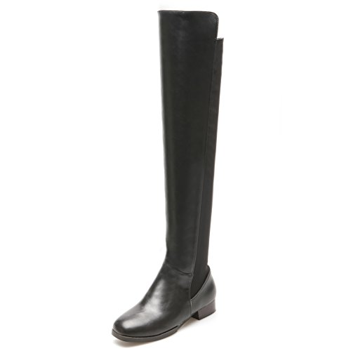 Boots Square AIWEIYi Riding Low Heels Boots Womens Over Elegant Knee Black The q88EH