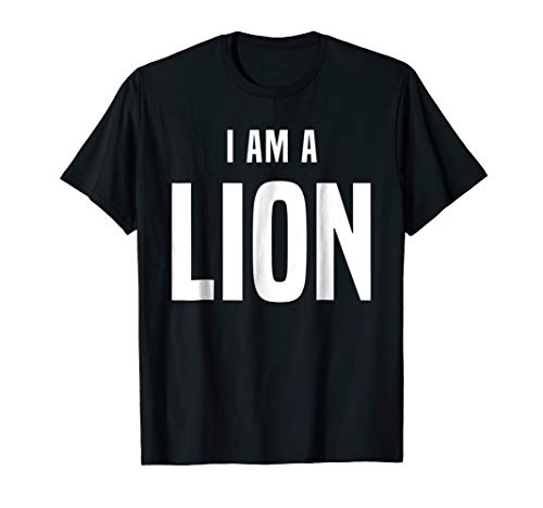 Lion Costume Shirt Easy Simple Halloween Costumes