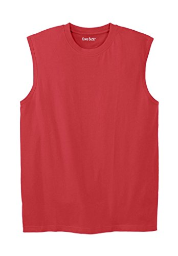 Kingsize Men's Big & Tall Lightweight Cotton Muscle Tee, ...