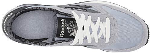 Reebok unisex adult Classic Leather Sneaker, Meteor Grey/Black/Cold Grey, 4.5 Women 3 Men US
