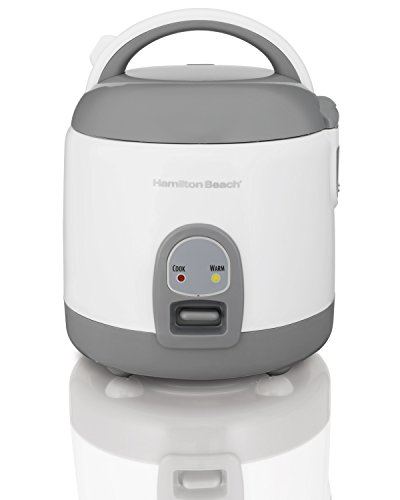 Hamilton Beach (37508) Rice Cooker with Rinser/Steam Basket, 4 Cups uncooked resulting in 8 Cups cooked, Mini, White by Hamilton Beach (Image #6)