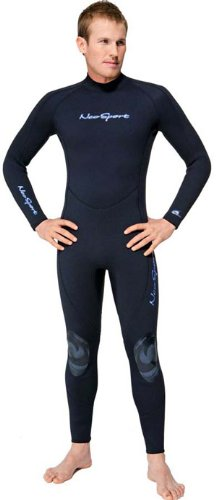 NeoSport Wetsuits Men's Premium 3/2mm Neoprene Full Suit , Black, Large - Diving, Snorkeling & Wakeboarding
