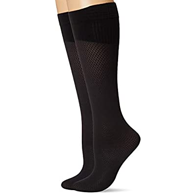 Hanes Women's Perfect Diamond Compression Socks 2 Pair Pack at Women's Clothing store