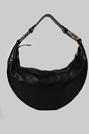 63b162240fd67 Image Unavailable. Image not available for. Color  Gucci Handbags Black  Guccissima Leather Half Moon Hobo 248274