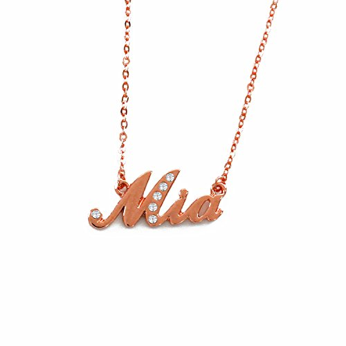 """""""Mia"""" Name Necklace - 18K..."""