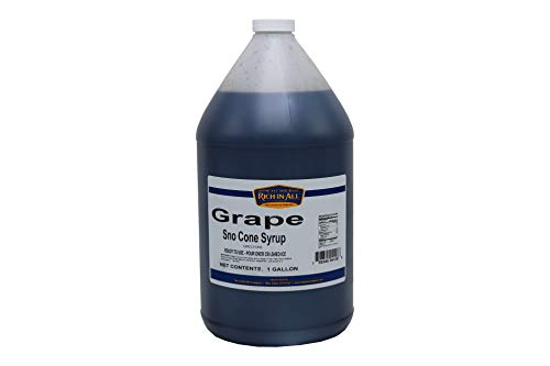 Gold Medal Sno Cone - Beach Cities Wholesalers Rich-In-All Sno Cone Syrup Grape 1 gallon (4 count)