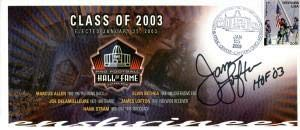 (James Lofton Autographed Pro Football Hall of Fame Class of 2003 Envelope - NFL Cut Signatures)