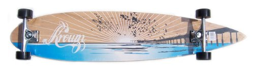 (Krown Wood Sunset Complete Longboard Skateboard)
