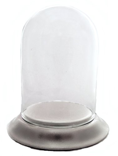 Pocket Watch Glass Display Dome with Satin Silver Chrome Base & Stand