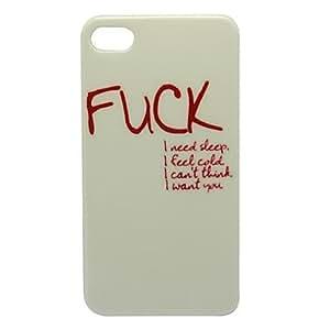 comprar Blanco JODER Modelo de la piel de plástico duro para el iPhone 4/4s