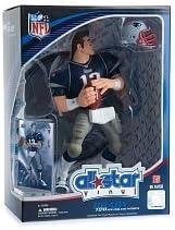 トムブレイディ2008 NFL Allスター9インチVINYL FIGURE NEW ENGLAND PATRIOTSアクションフィギュアwith ToyフットボールandトレーディングカードUpper Deck Collectible