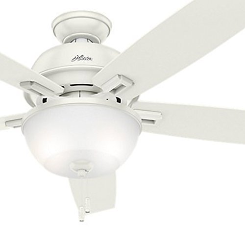 (Hunter Fan 60 inch Great Room Ceiling Fan in Brushed Nickel with Light and LED Bulbs Included (Renewed))