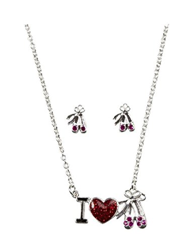 Justice For Girls I Heart Dance Earrings & Necklace - Justice Earrings