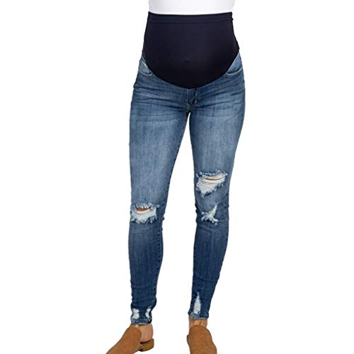 High Waisted Pants for Women Plus Size,Pregnant Woman Ripped Jeans Maternity Pants Trousers Nursing Prop Belly Legging,Maternity Intimate Apparel