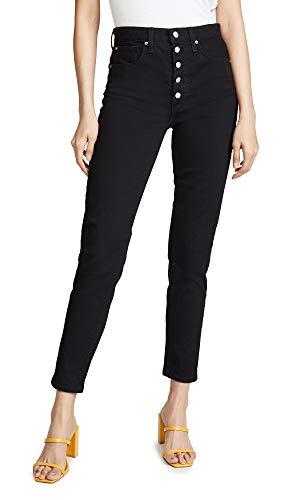 Joe's Jeans Women's x We Wore What Danielle High Rise Vintage Straight Jeans, Black, 30