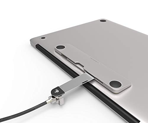 Security Slot Blade for Laptops - Maclocks Universal Locking Bracket for MacBook Pro, Air, Notebooks & Tablets. Color: Silver. - Cutter 6 Pro Cable