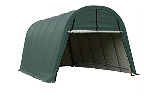 ShelterLogic Replacement Cover Kit 14.5oz Green 804544 11277 802613 802614 13x20x10 Round Top (14.5oz Green) -