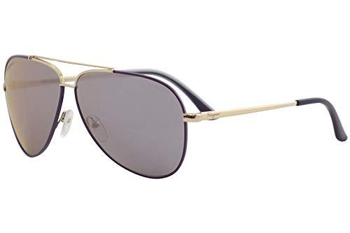 Salvatore Ferragamo Sunglasses SF131S 736 Shiny Light Gold W Purple 60 10 ()