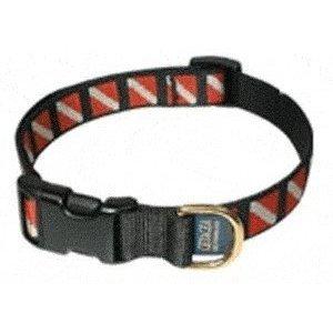 e Nylon Dive Flag Pet Long Collar for Your Scuba Diving Pet - Adjusts to Fit 15 to 25 Neck/FBM ()