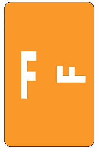 Smead AlphaZ ACCS Color-Coded Alphabetic Label, F, Orange, 100 labels per Pack (67176)