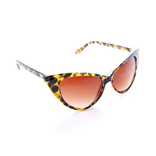 SunGlaz - Cateyes Vintage Inspired Fashion Mod Chic High Pointed Cat Eye Sunglasses Glasses (Havana Tortoise, - Nyc Vintage Sunglasses