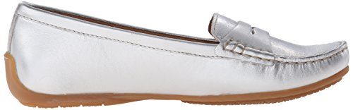 CLARKS Leather Silver Nest Doraville Women's On Slip Loafer rzS0rTwUq