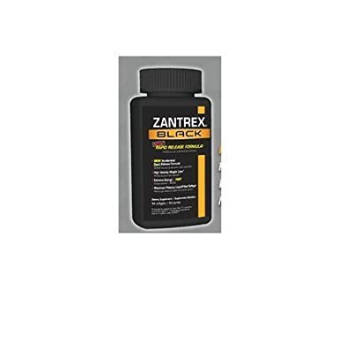 Zantrex Black Rapid Release Formula High Velocity Weight Loss, 60 Softgels by Zantrex Black