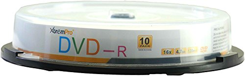 XtremPro DVD-R 16X 4.7GB 120Min DVD 10 Pack Blank Discs in Spindle - (Pen Write Cd)