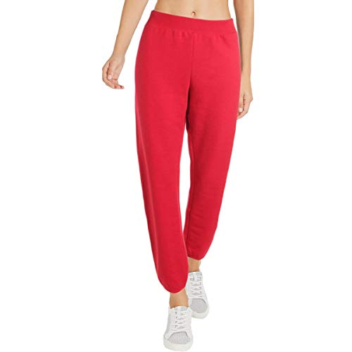 Juicy by Juicy Couture Womens Varsity Terry Logo Track Pants Red M