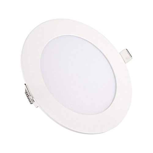 Ceiling Lights, TryLight 9 Watts 5 Inch Dimmable Round LED Recessed Lighting Ultra-Thin Flush Mount for Home Office Commercial Lighting, 3000K Warm White